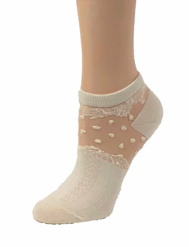 Dazzling Frosted White Ankle Sheer Socks - Global Trendz Fashion®