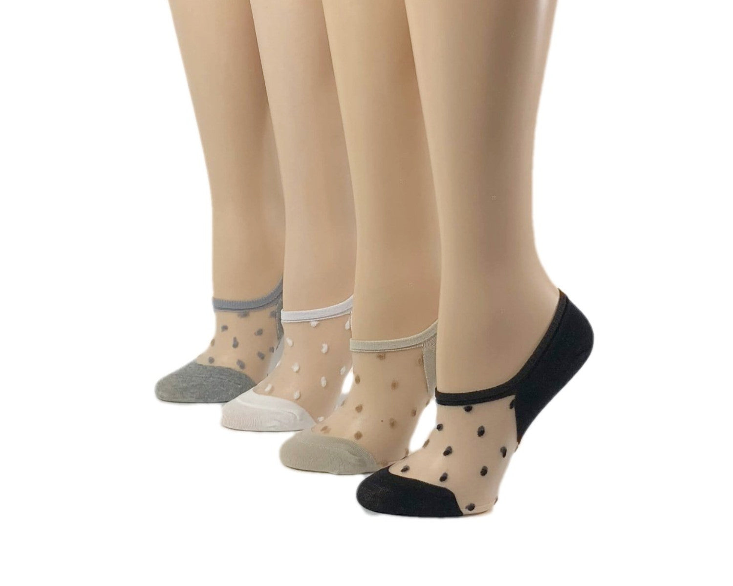 Cute Dotted Sheer Socks (Pack of 4 Pairs) - Global Trendz Fashion®