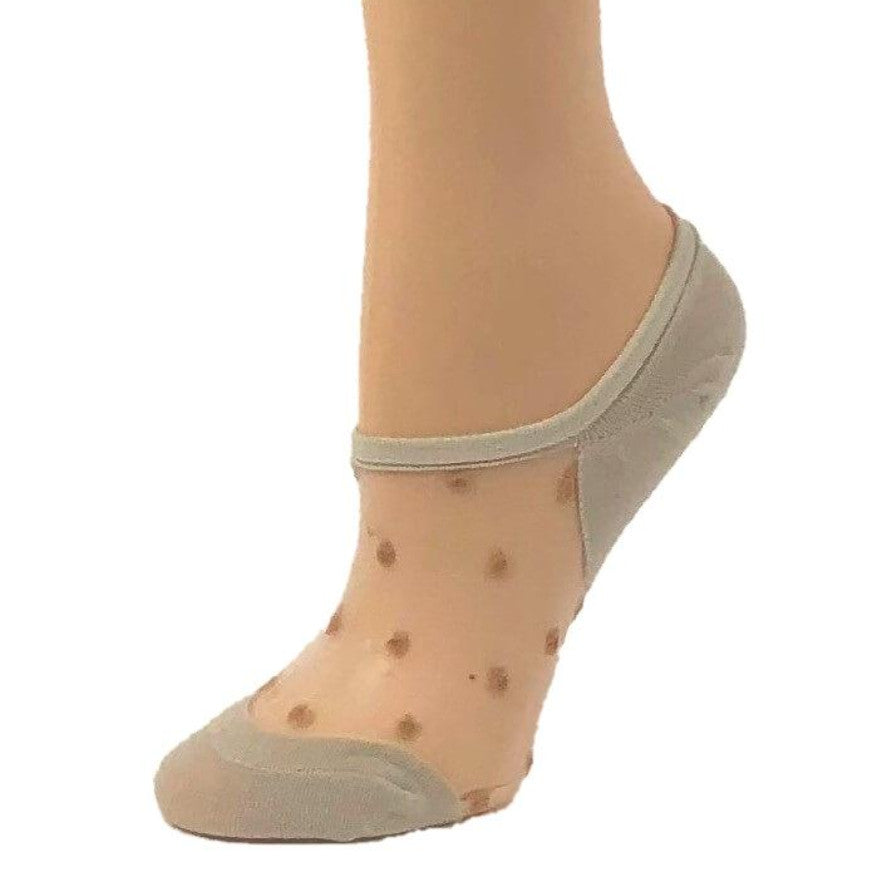 Stylish Skin Dotted Ankle Sheer Socks - Global Trendz Fashion®