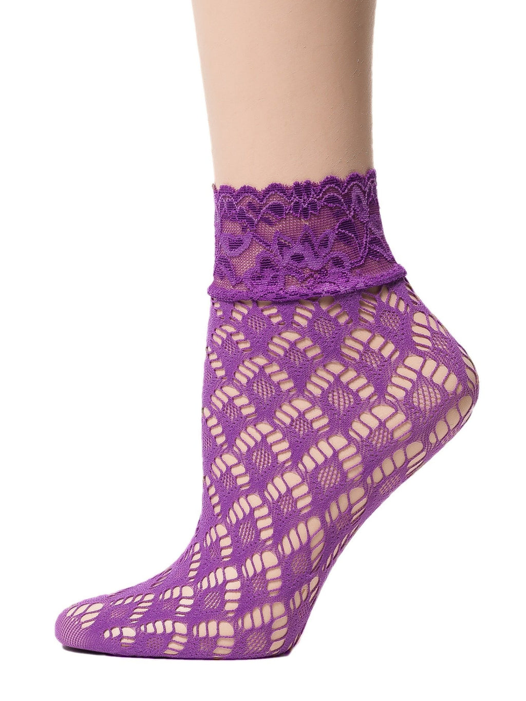 Windy Purple Mesh Socks - Global Trendz Fashion®