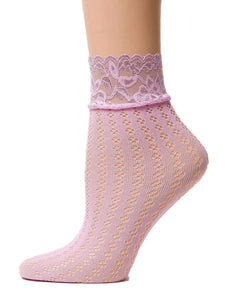 Mushy Pink Sheer Socks - Global Trendz Fashion®