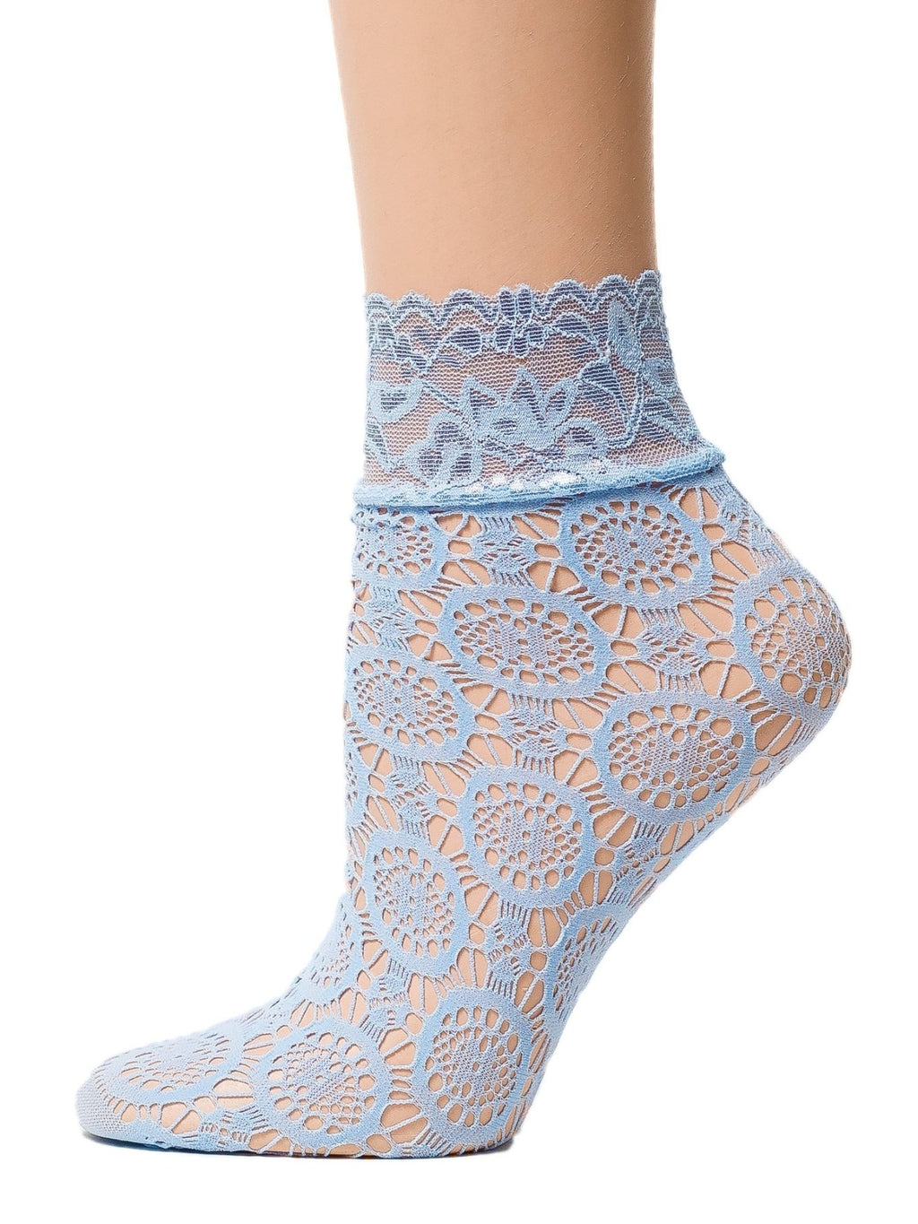Sea Blue Mesh Socks - Global Trendz Fashion®