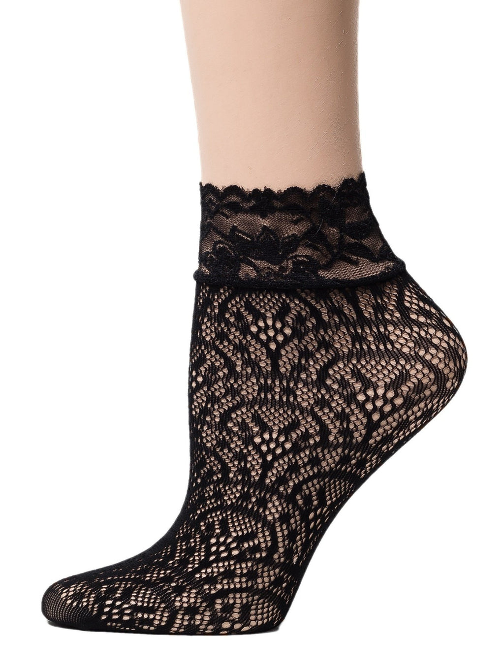 Tornado Black Mesh Socks - Global Trendz Fashion®