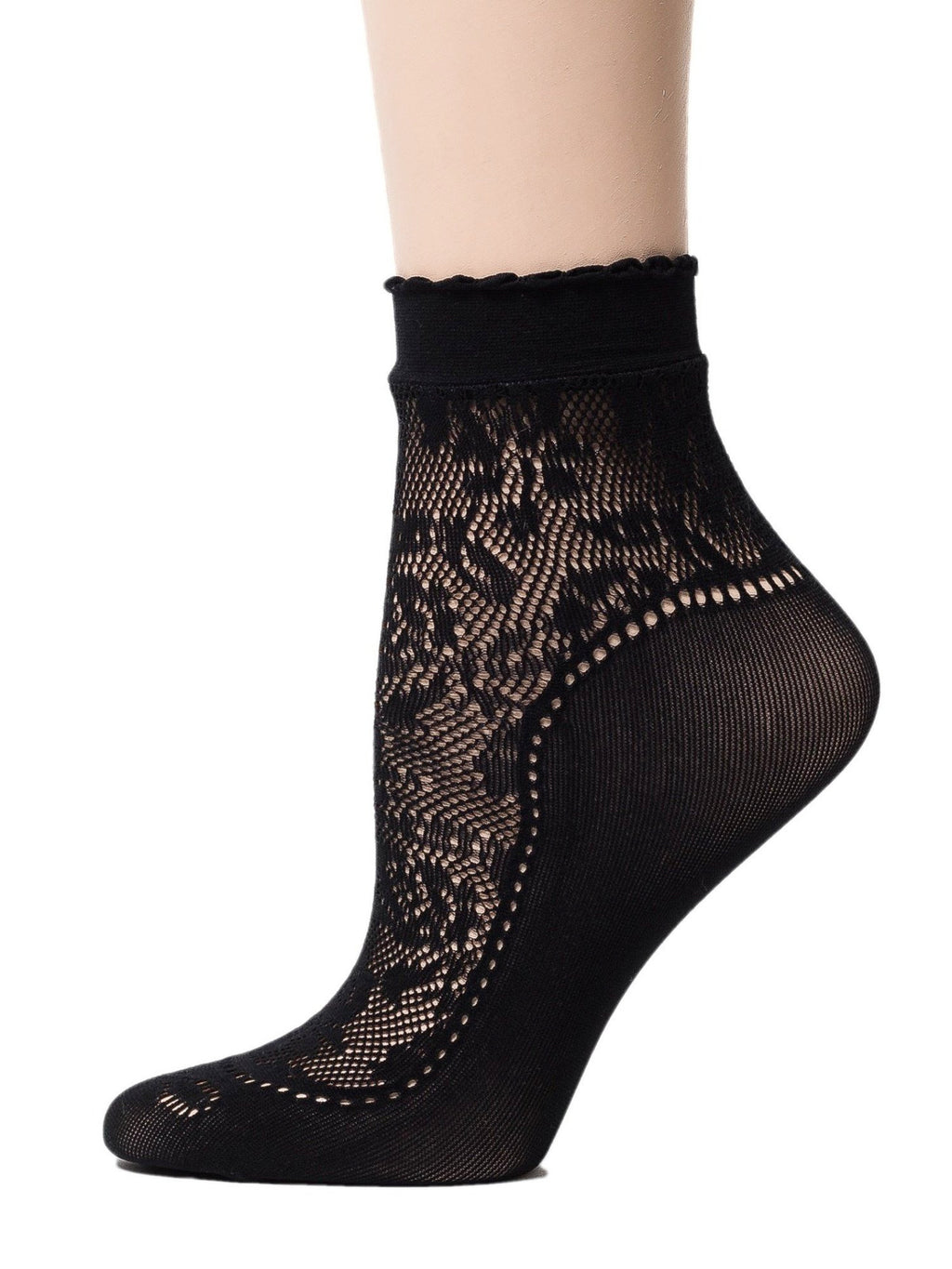 Midnight Black Mesh Socks - Global Trendz Fashion®