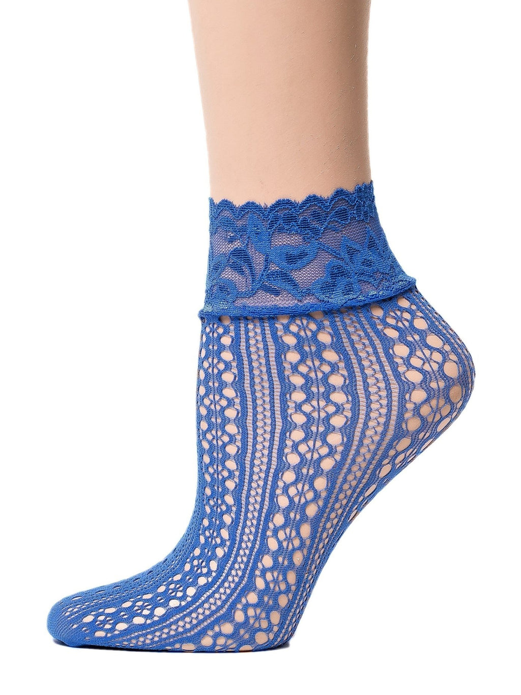 Posh Blue Mesh Socks - Global Trendz Fashion®