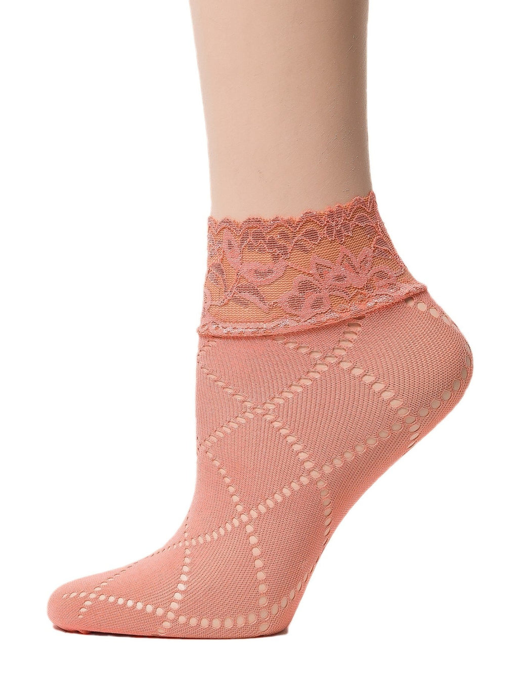 Glowing Orange Mesh Socks - Global Trendz Fashion®