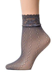 Dashing Grey Mesh Socks - Global Trendz Fashion®
