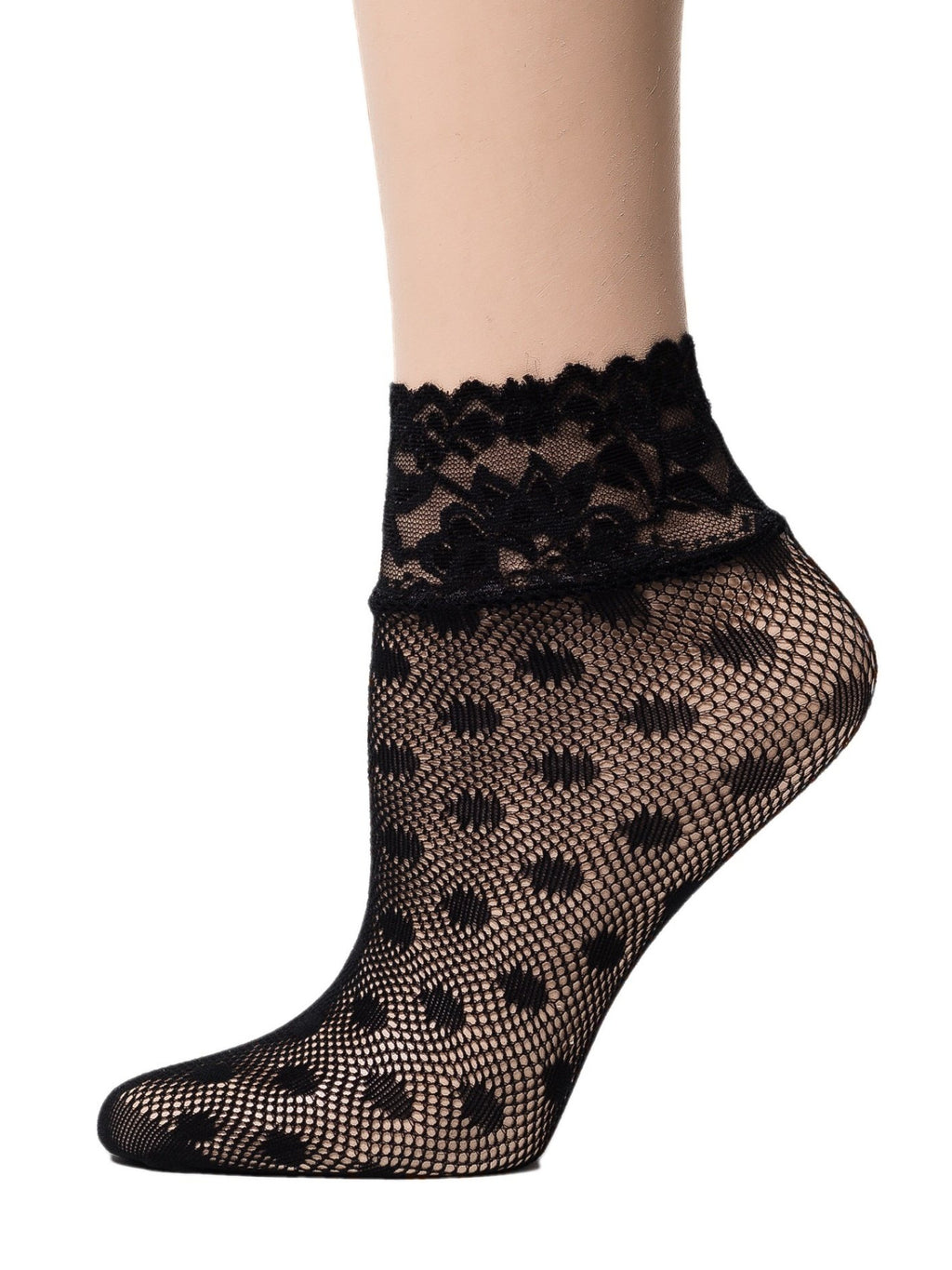 Dotted Black Mesh Socks - Global Trendz Fashion®