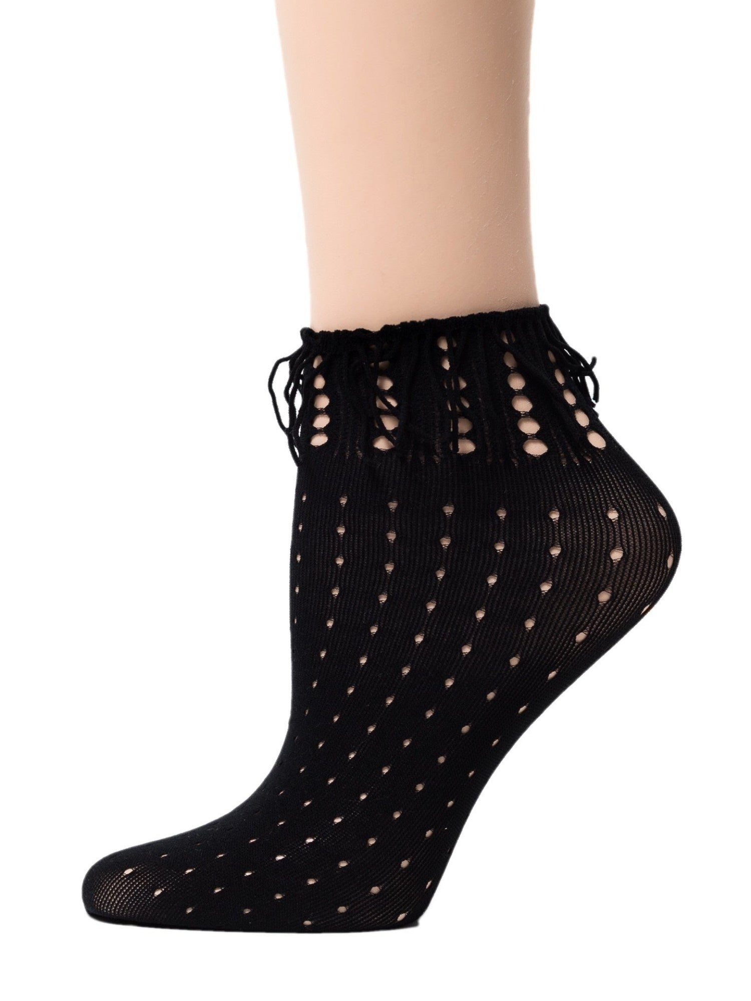 Wild Dark Black Mesh Socks - Global Trendz Fashion®