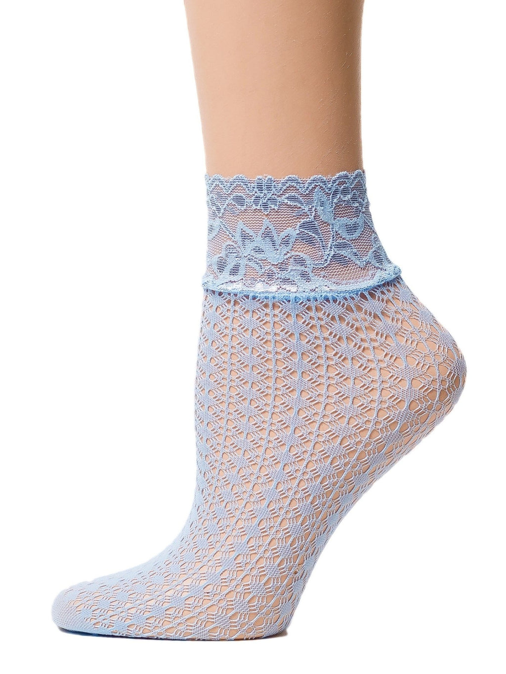 Elegant Sea Blue Mesh Socks - Global Trendz Fashion®
