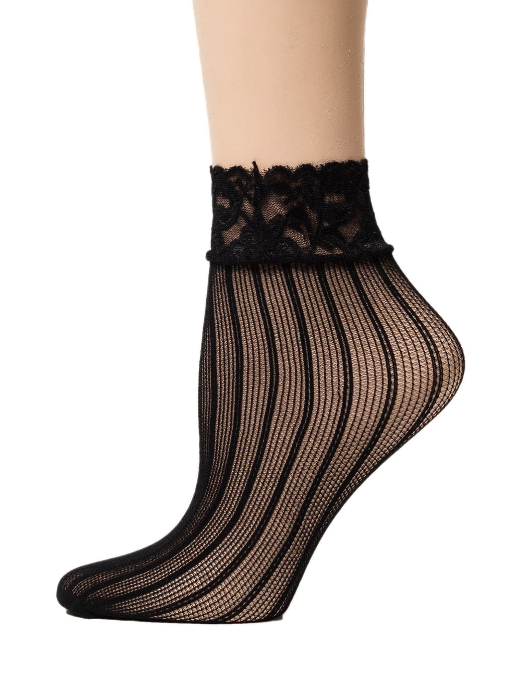 Lateral Black Mesh Socks - Global Trendz Fashion®