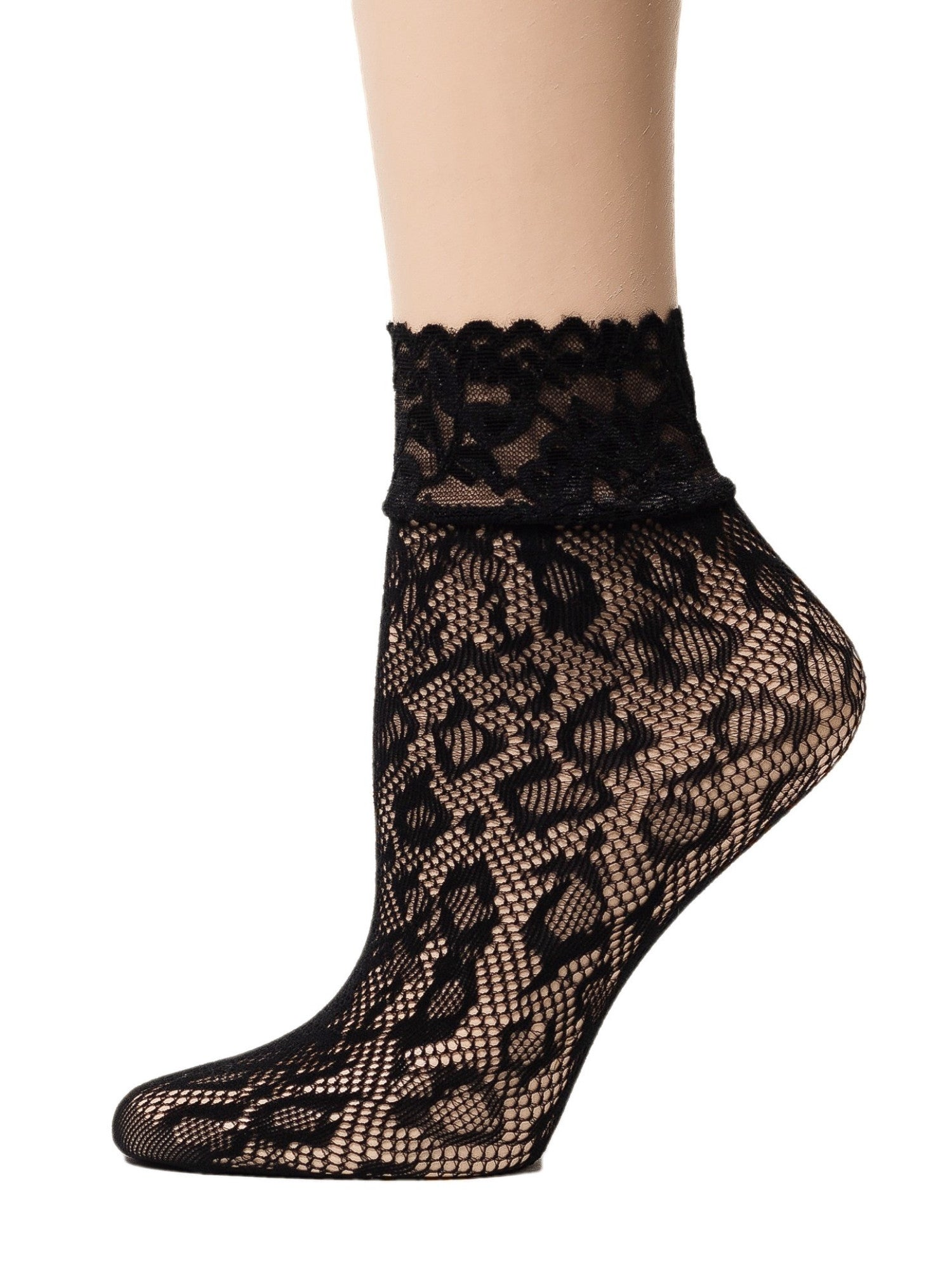 Cheetah Black Mesh Socks - Global Trendz Fashion®