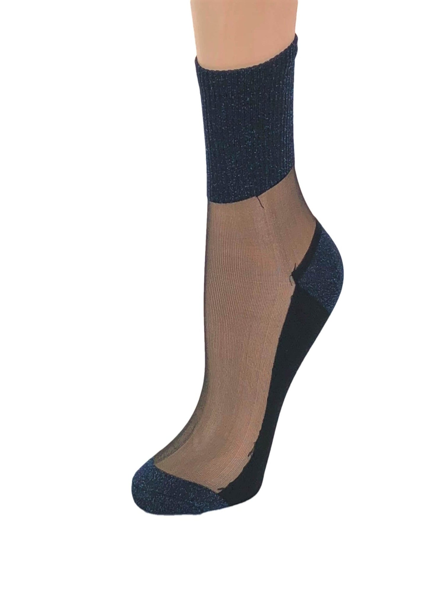 Gorgeous Sea Blue Glitter Socks - Global Trendz Fashion®