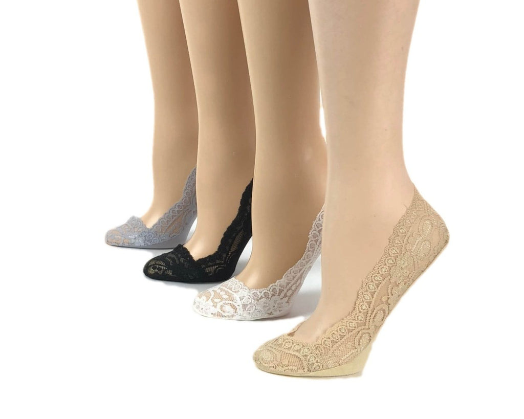 Patterned Creamy Colours Sheer Socks (Pack of 4 Pairs) - Global Trendz Fashion®