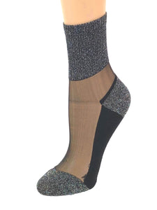 Gorgeous Silver Glitter Socks - Global Trendz Fashion®