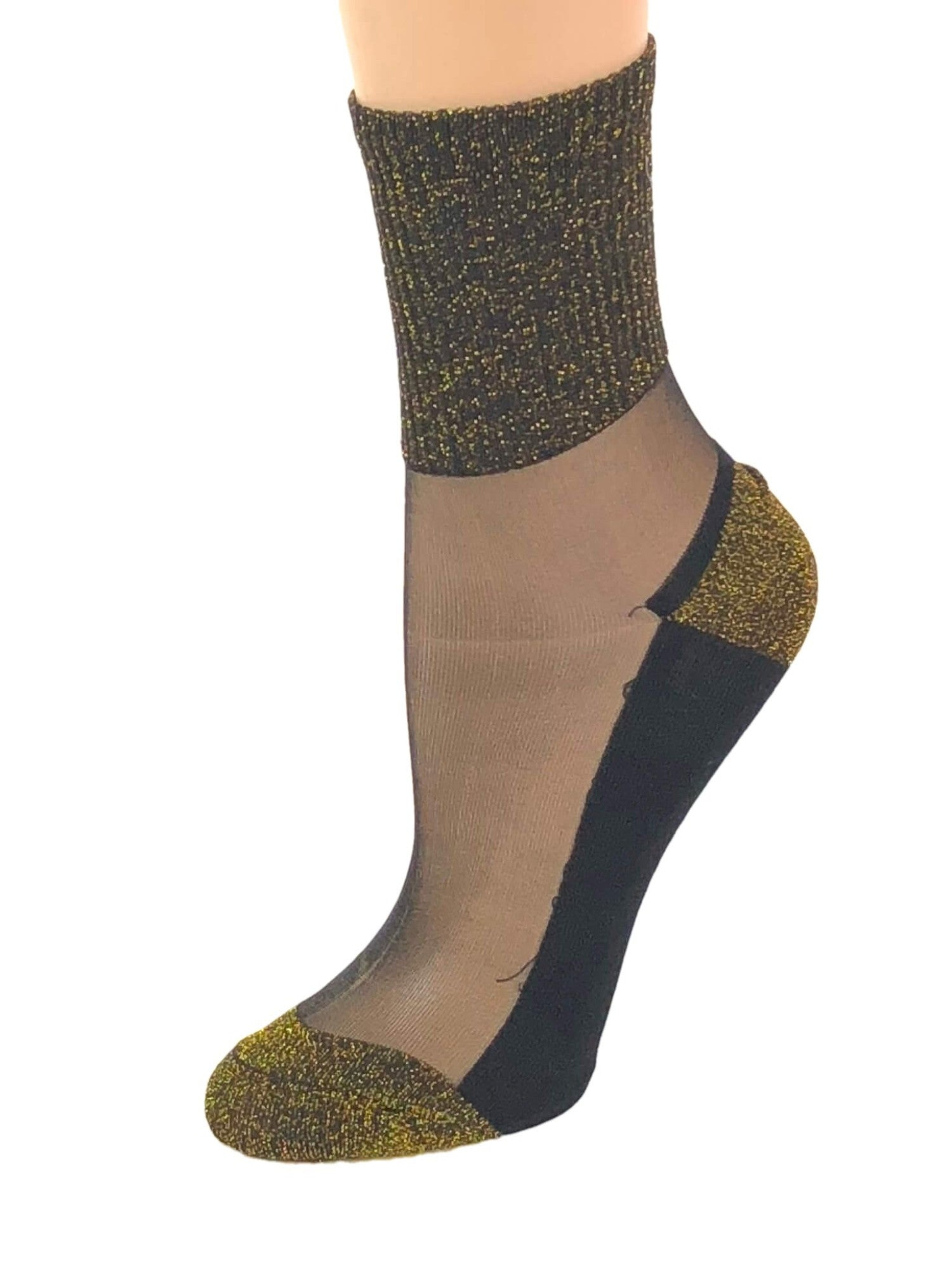 Gorgeous Golden Glitter Socks - Global Trendz Fashion®