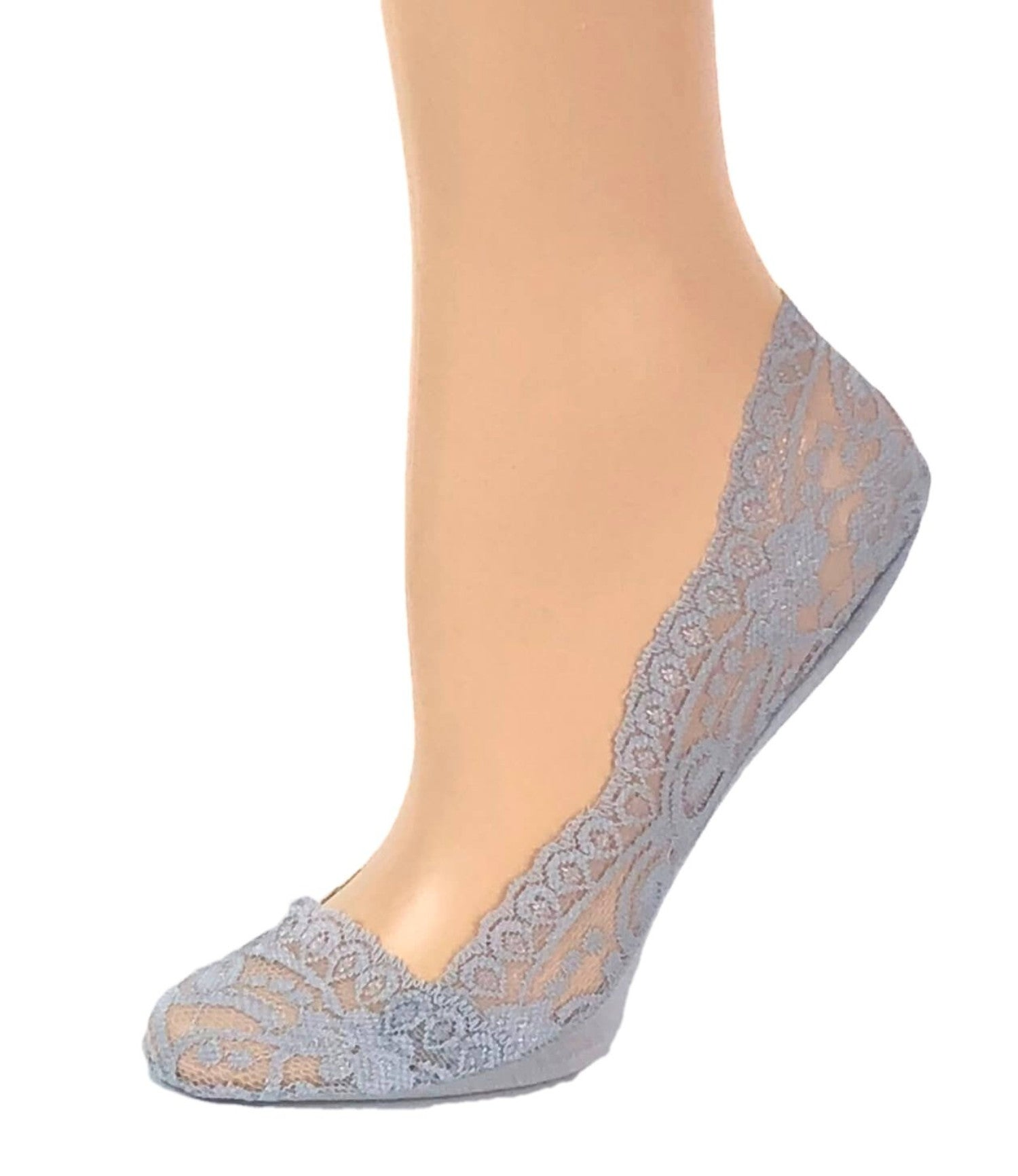 Gorgeous Grey Patterned Ankle Sheer Socks - Global Trendz Fashion®