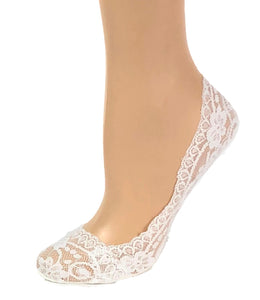 Gorgeous White Patterned Ankle Sheer Socks - Global Trendz Fashion®