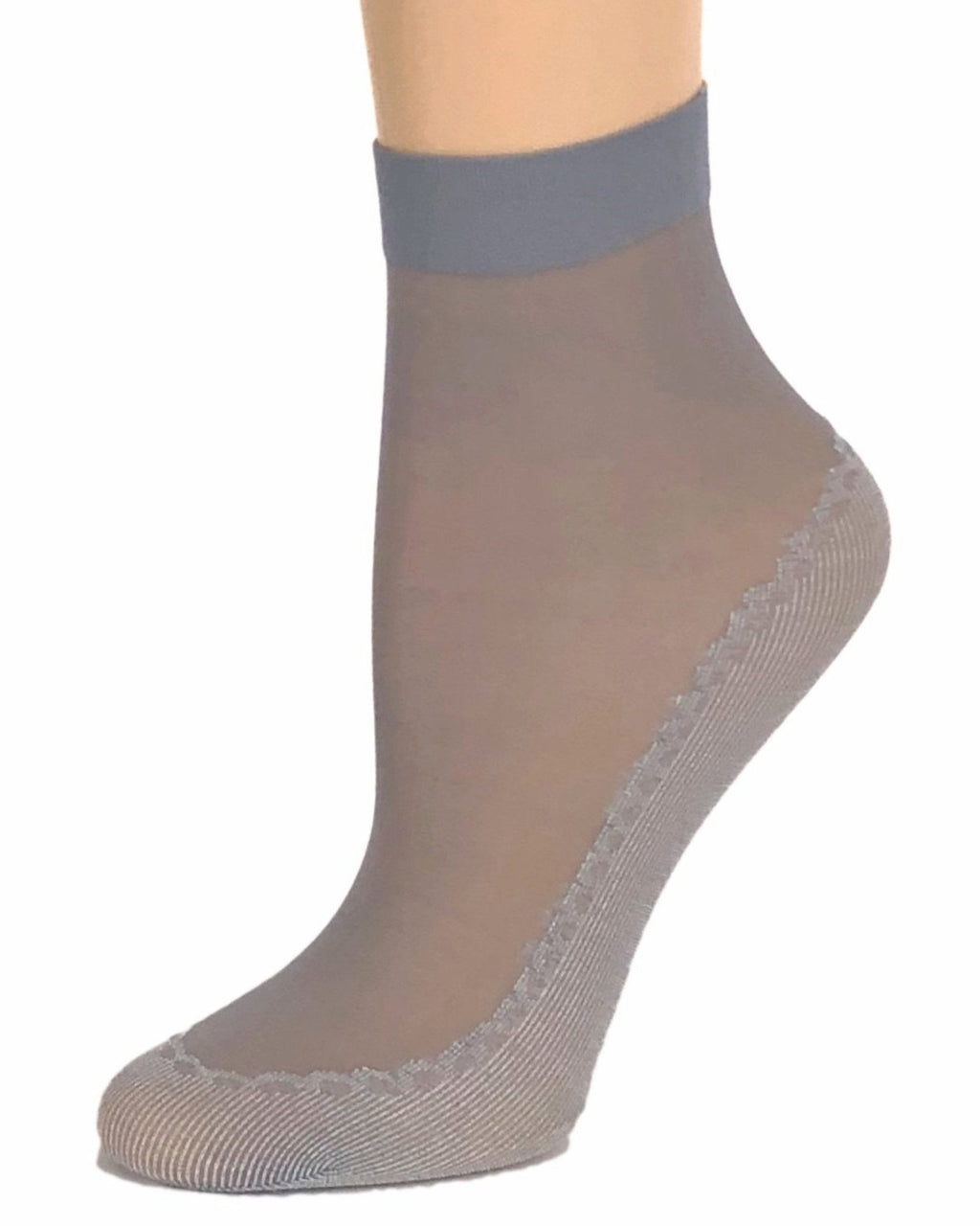 Classy Grey Sheer Socks - Global Trendz Fashion®