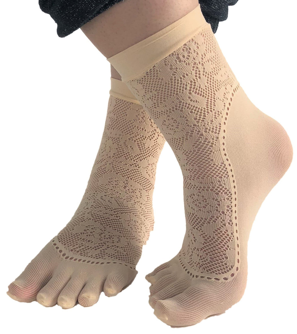 Floral Toe Mesh Socks - Global Trendz Fashion®