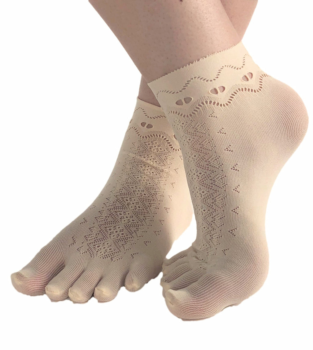 Zigzag Toe Mesh Socks