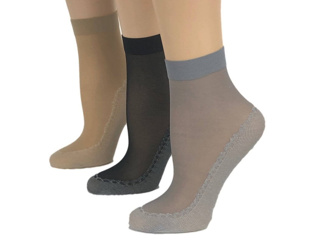 Cute Patterned Sheer Socks (Pack of 3 Pairs) - Global Trendz Fashion®