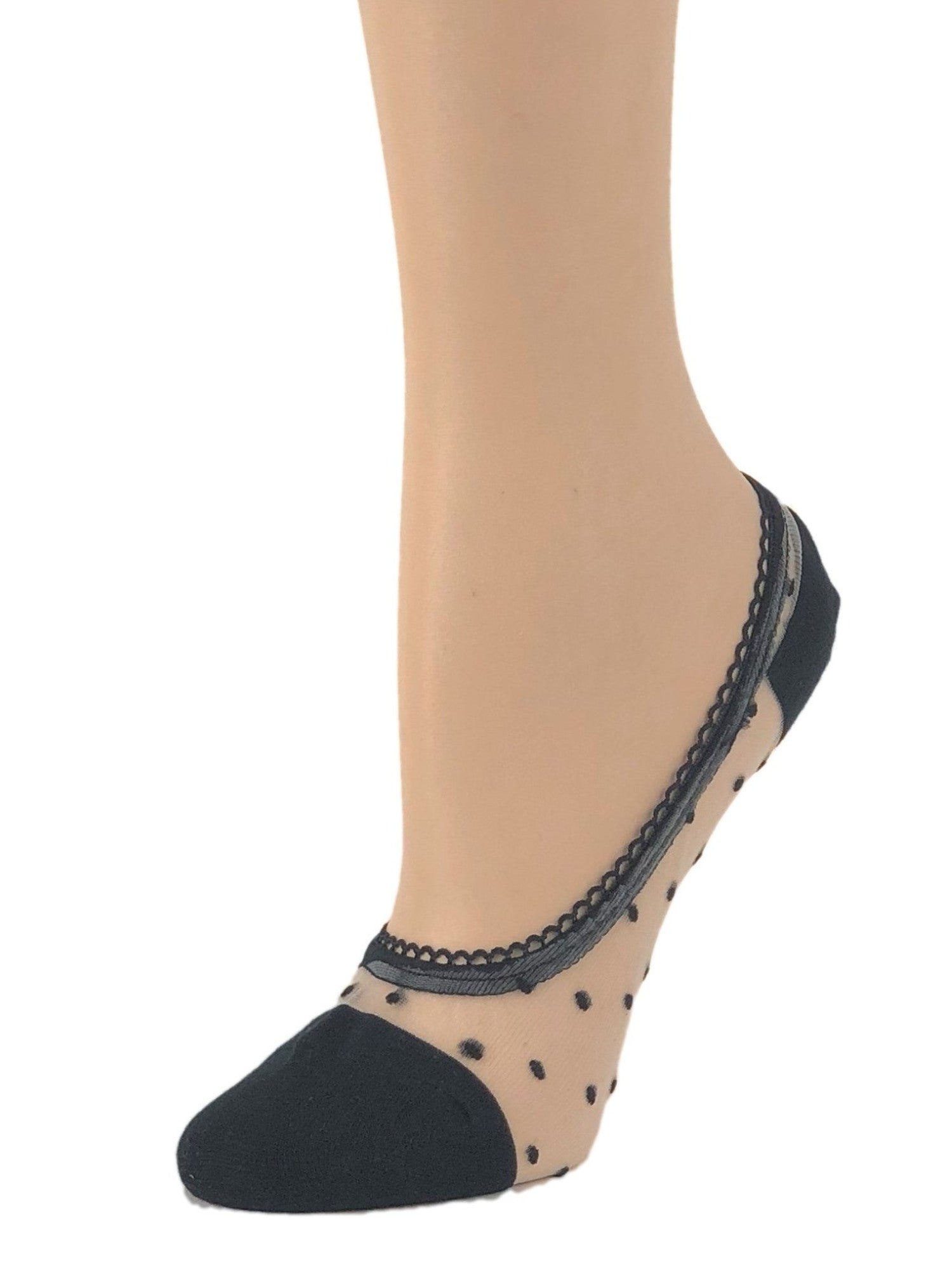 Dotted Black Ankle Sheer Socks - Global Trendz Fashion®