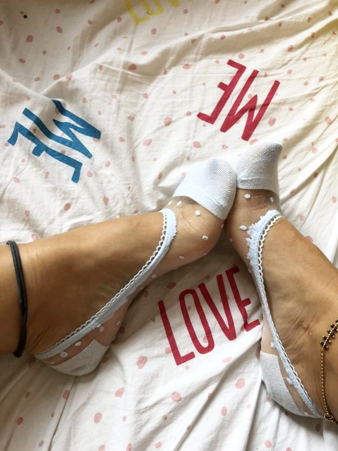Cute Blue Dotted Ankle Sheer Socks - Global Trendz Fashion®