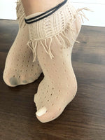 Wild Beige Mesh Socks - Global Trendz Fashion®