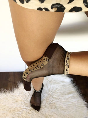 Wild Leopard Sheer Socks - Global Trendz Fashion®