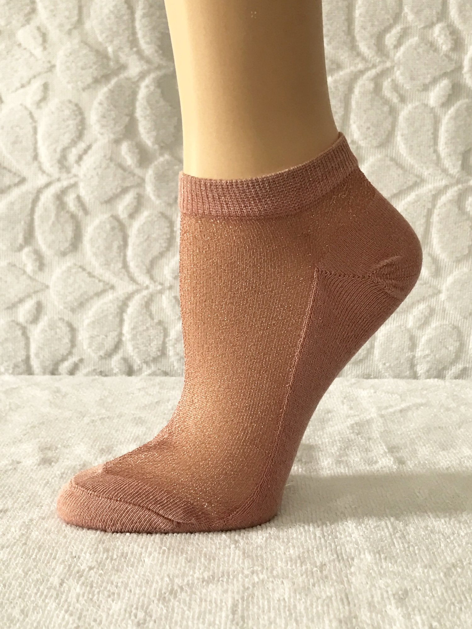 Glowing Pink Ankle Sheer Socks - Global Trendz Fashion®