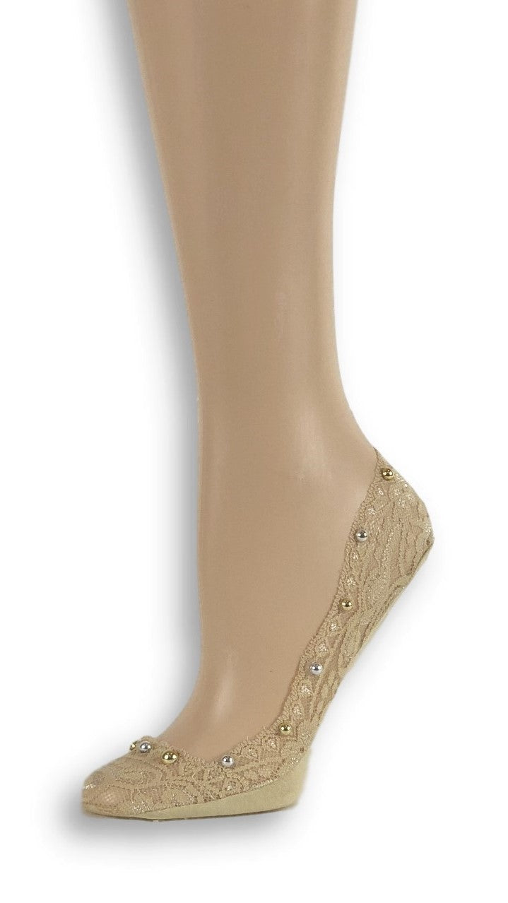 Gorgeous Skin Custom Ankle Sheer Socks with beads - Global Trendz Fashion®