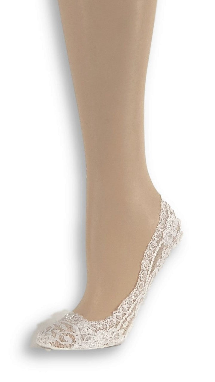 Gorgeous White Custom Ankle Sheer Socks with beads - Global Trendz Fashion®