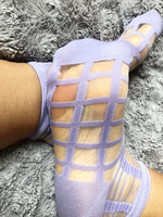 Cornflour Blue Sheer Socks - Global Trendz Fashion®