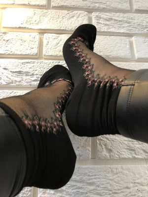 Pleasant Pink Sheer Socks-Global Trendz Fashion®