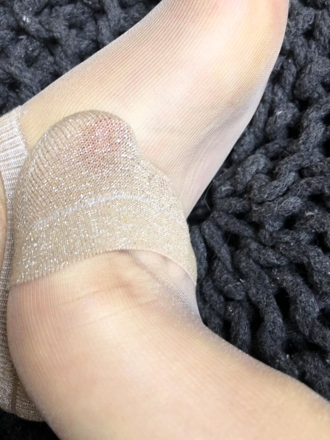Light Gold Glittered Ankle Sheer Socks- Global Trendz Fashion®