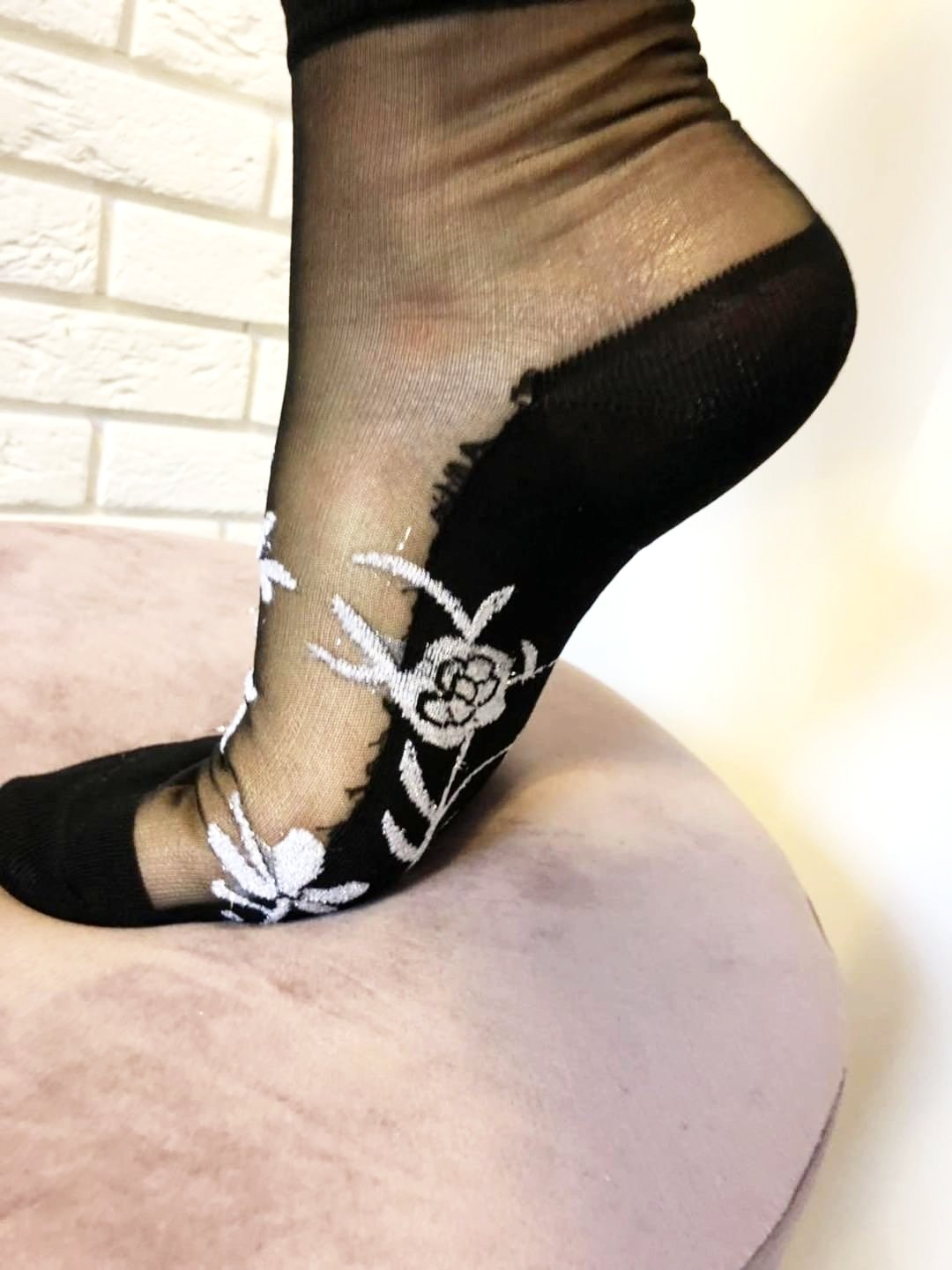 Silver Patterned Glitter Sheer Socks - Global Trendz Fashion®