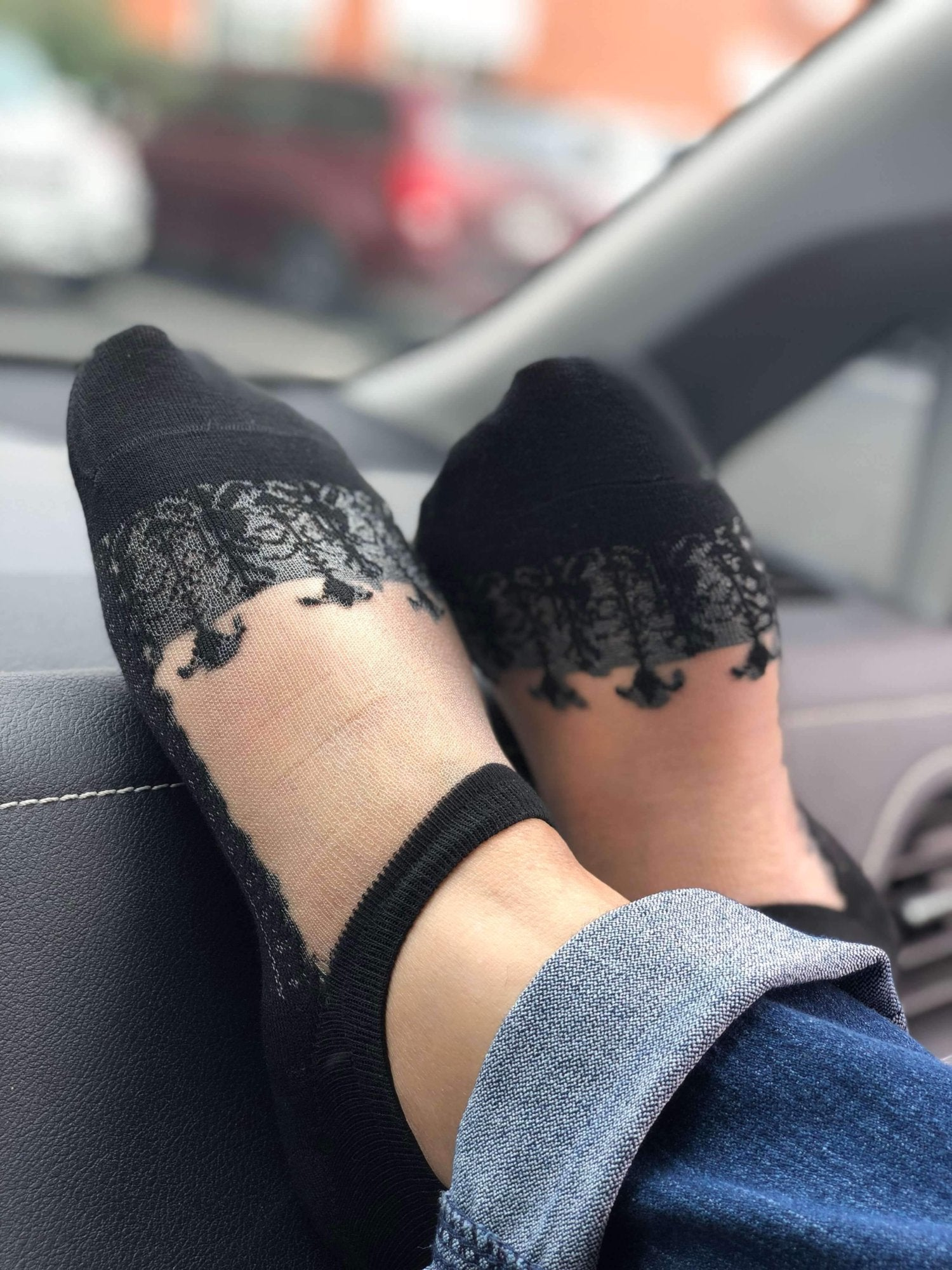 Embroidery Ankle Sheer Socks - Global Trendz Fashion®