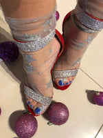 Silver Stars Tulle Socks - Global Trendz Fashion®