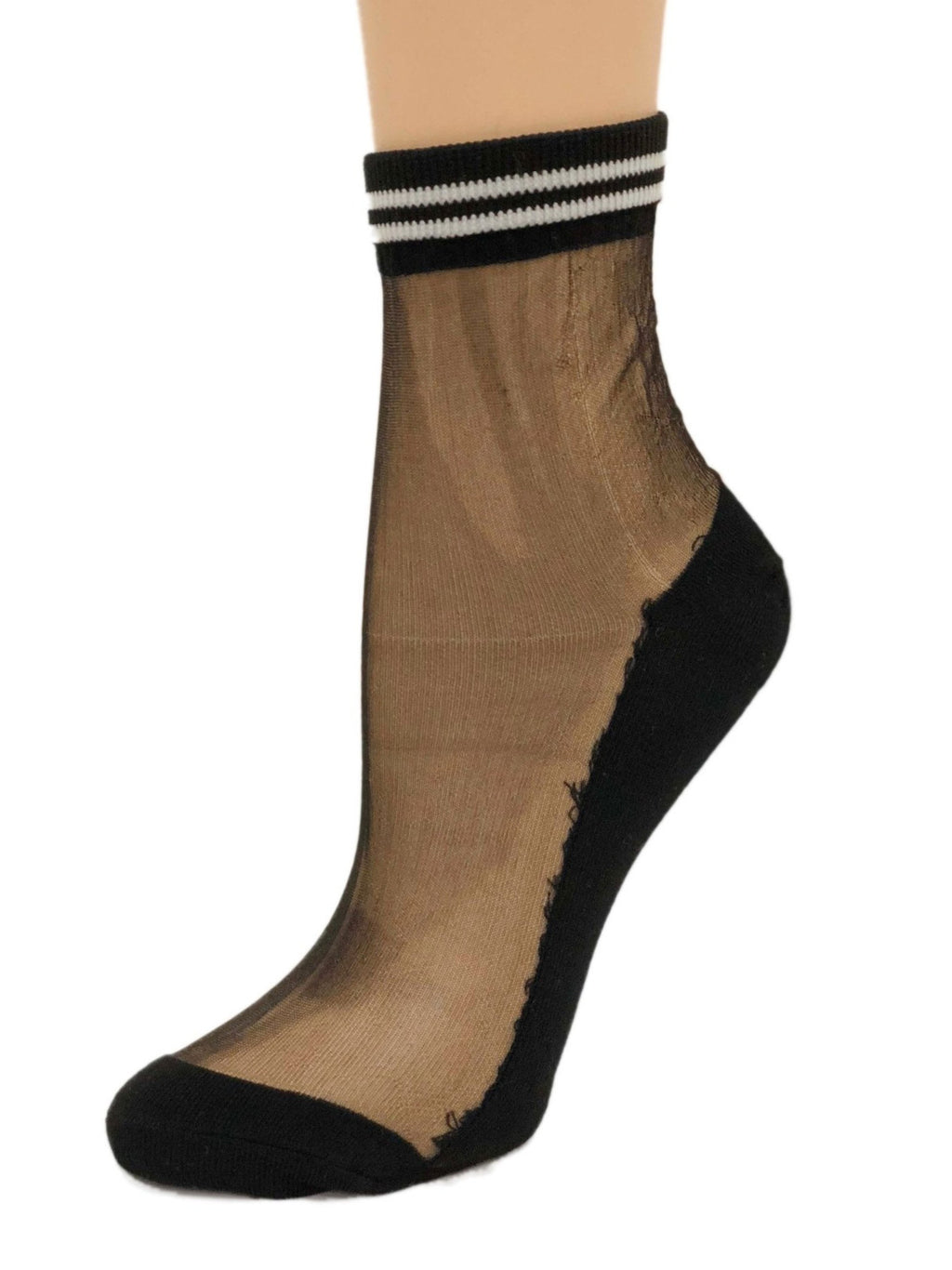 Twin Striped Sheer Socks - Global Trendz Fashion®