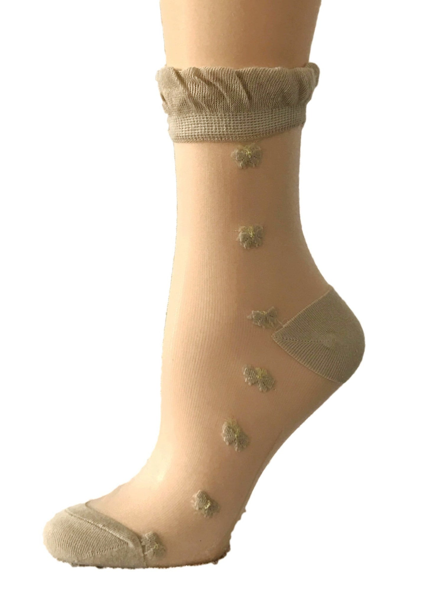 Pretty Skin Flowers Sheer Socks - Global Trendz Fashion®