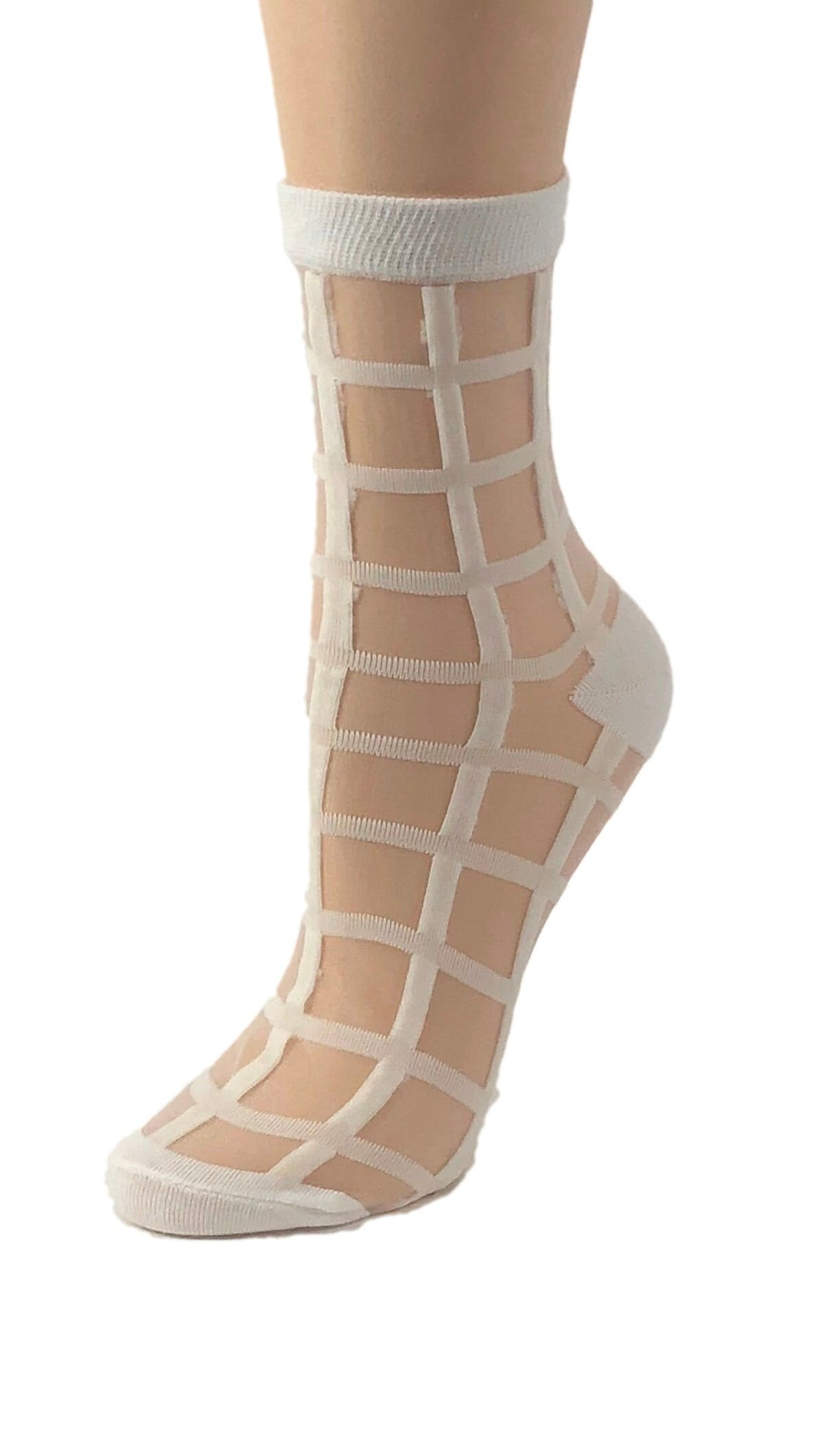 Ivory White Sheer Socks - Global Trendz Fashion®