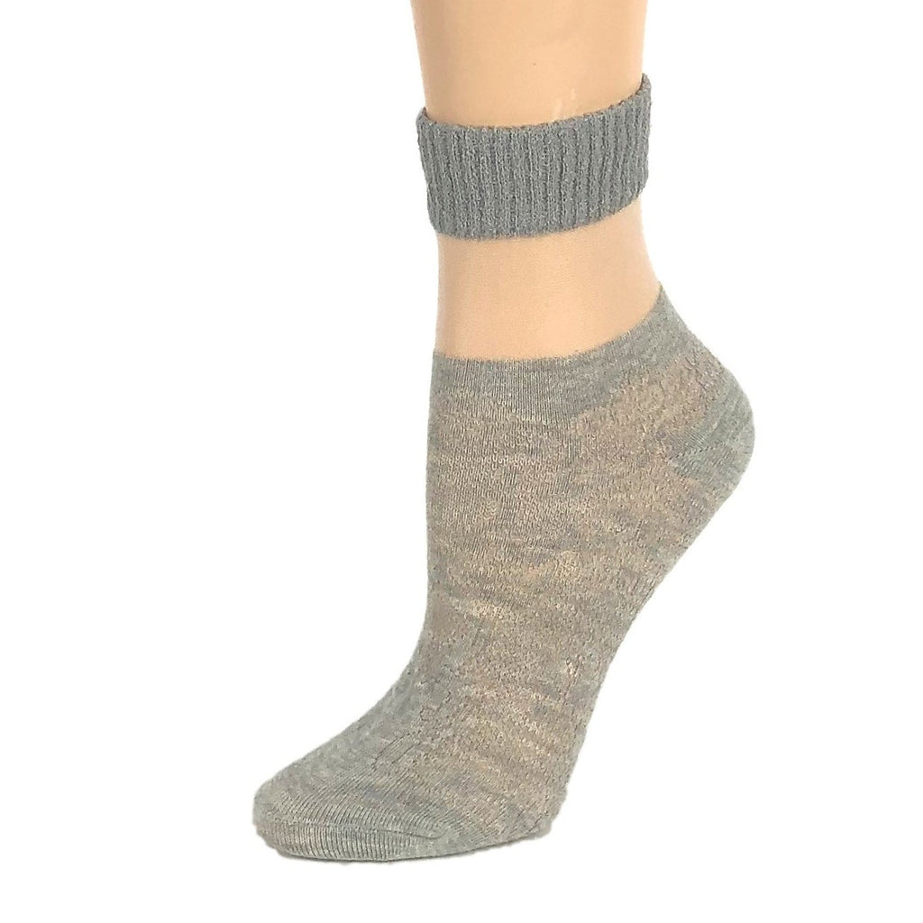 Carving Grey Sheer Socks - Global Trendz Fashion®