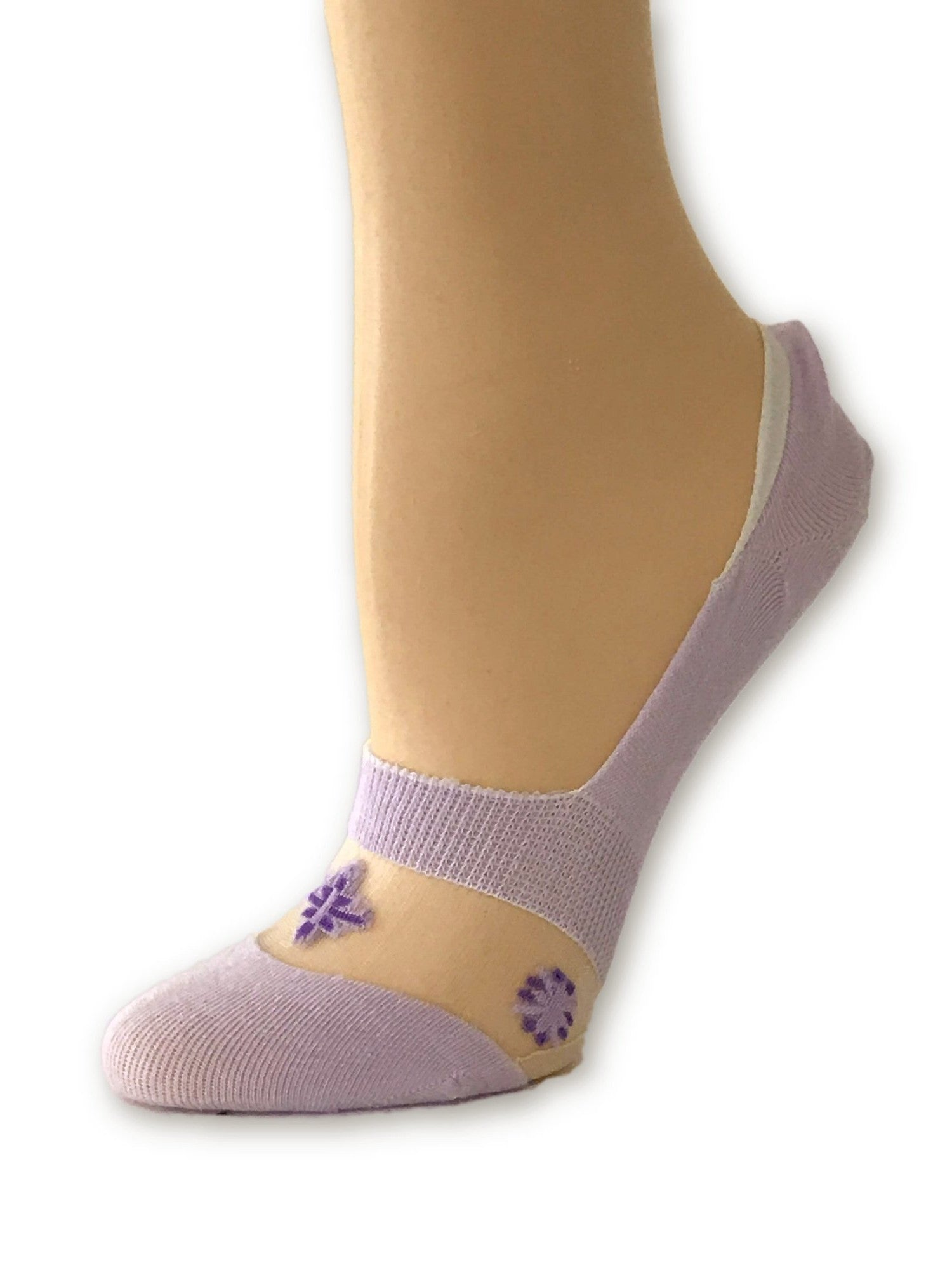 One-Stripped Purple Ankle Sheer Socks- Global Trendz Fashion®