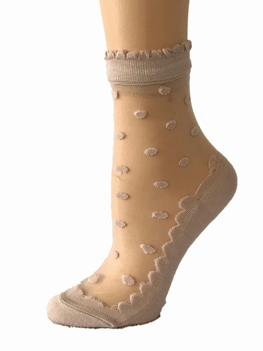 Elegant Dotted Sheer Socks - Global Trendz Fashion®