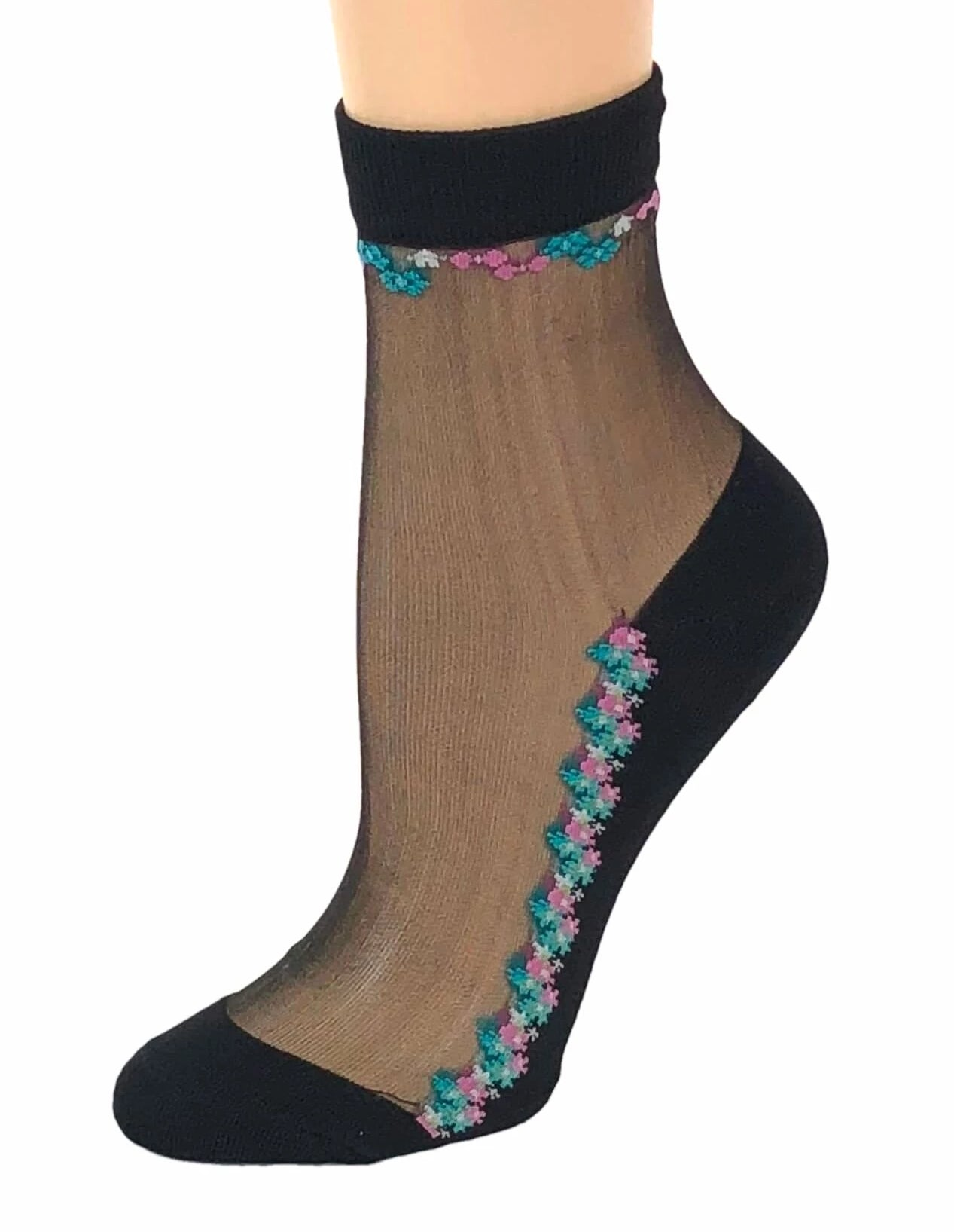 Mini Floral Sheer Socks - Global Trendz Fashion®