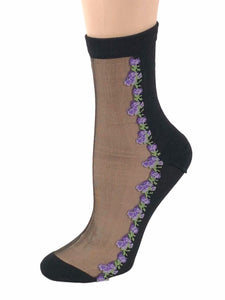 Mini Purple Sheer Socks - Global Trendz Fashion®