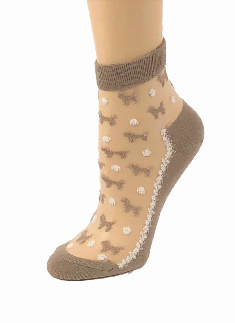 Adorable Puppies Sheer Socks - Global Trendz Fashion®