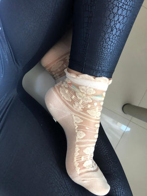 Stunning Beige Sheer Socks