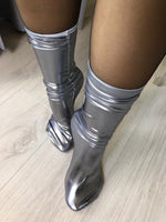 Metallic Silver Reflective Socks - Global Trendz Fashion®